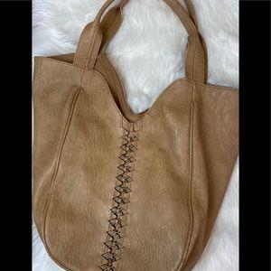 DV Dolce Vita boho tan large bucket bag